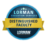 Lorman Education Distinguished Facultry Badge